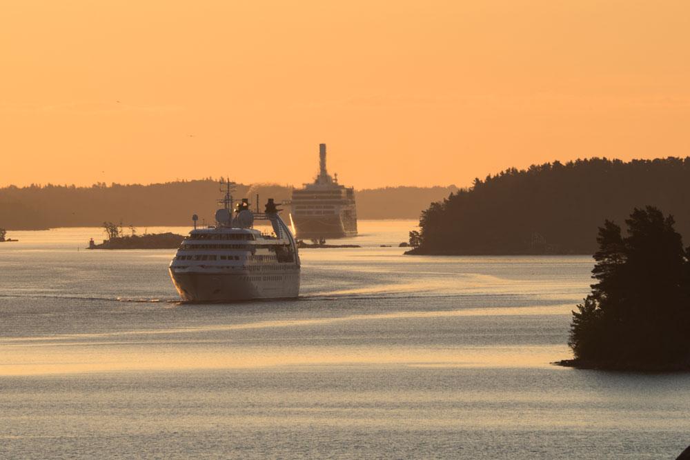 Рассвет с палубы парома Silja Line