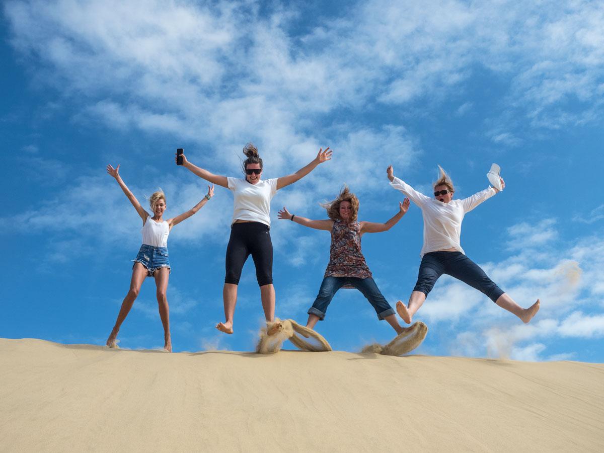Песчаные дюны в Новой Зеландии