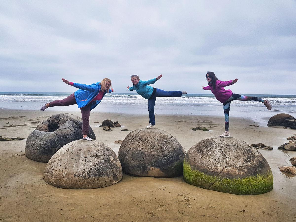 Моераки боулдерс в Новой Зеландии