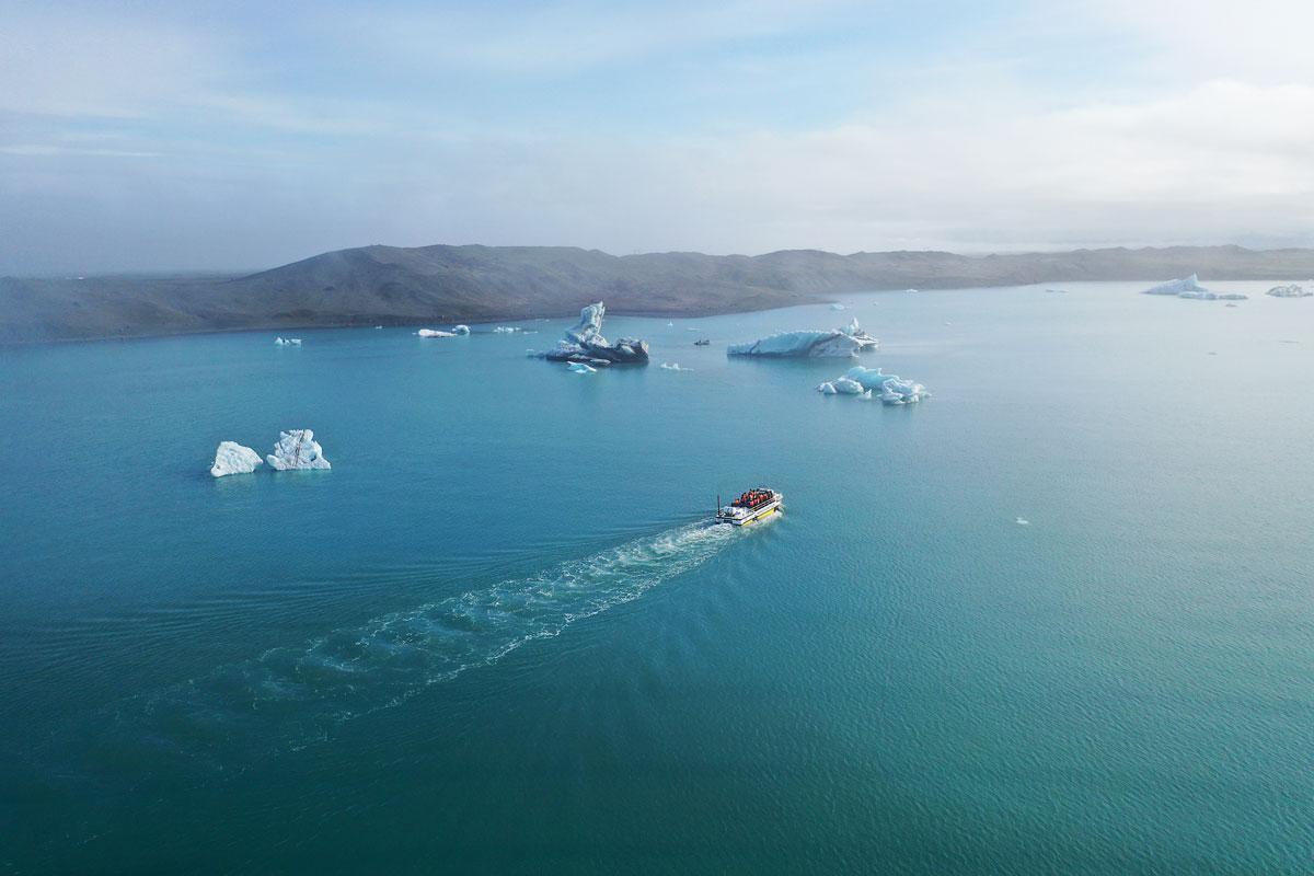 Прогулка по лагуне айсбергов на корабле-амфибии