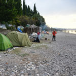 Abkhazia. New Athos, overnight on the beach