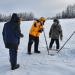 Ice Fishing on Indigirka river
