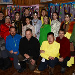 Memory photo: participants of the tour with the folklore team in Oymyakon