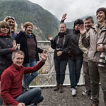 Our cheerful group at the Inguri HPP, Georgia