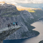 Tour to Norway. Our group in the Trolltunga