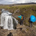 Travel around Iceland. In the valley of the Skoga River