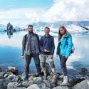 Travel around Iceland. Icebergs lagoon.