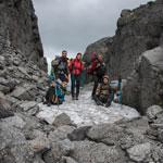 Поход в Хибины. Группа на перевале Рамзая