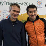 AlmatyTravelFest2017. With the legendary man Maksut Zhumayev, who climbed without oxygen to all 14 eight-thousanders.