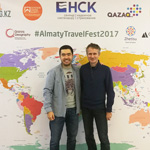 AlmatyTravelFest2017. With the organizer of the festival, a traveler and a well-known travel blogger Nurzhan Algashov