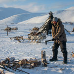 Arctic expedition. Reindeer herders. Able help to the hospitable hosts