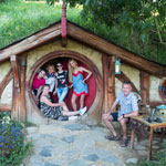 New Zealand tour. Hobbiton movie set. Frodo and the Elves