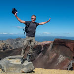 New Zealand tour. Flight on Tongariro Alpin Crossing