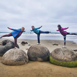 New Zealand tour. Moeraki boulders