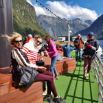 New Zealand tour. Cruise on Milford Sound