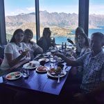 New Zealand tour. Farewell dinner at the Stratospher restaurant over Queenstown