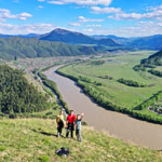 Adventure tour of the Altai Mountains. Over the Katun River