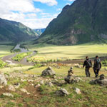 Adventure tour of the Altai Mountains. In the valley of the river Chulyshman