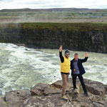Auto tour around Iceland-2019. Near the waterfall Gullfoss