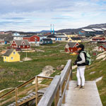 Greenland Tour-2019. Walk around the city of Ilulissat