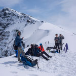 Great Kamchatka trip. At the edge of the crater of the flat Tolbachik volcano, 2800 m.