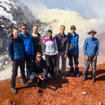 Great Kamchatka trip. Group in the crater of Avachinsky volcano