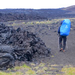 Kamchatka Trekking around Tolbachik. We walk around the huge lava field of the 2013 eruption