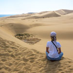 Traveling in New Zealand. Sand Dunes near Cape Reinga